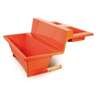 orange bathtub by joep van lieshout