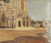 die kathedrale in chartres by lucien adrion