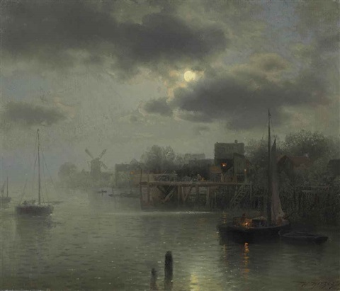 moonlight in holland by hermann herzog