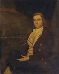 portrait of gentleman (gabriel verplank ludlow?) by ralph earl