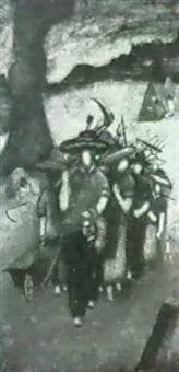 retour des paysans by dino cavallari