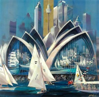 sydney harbor by charles billich