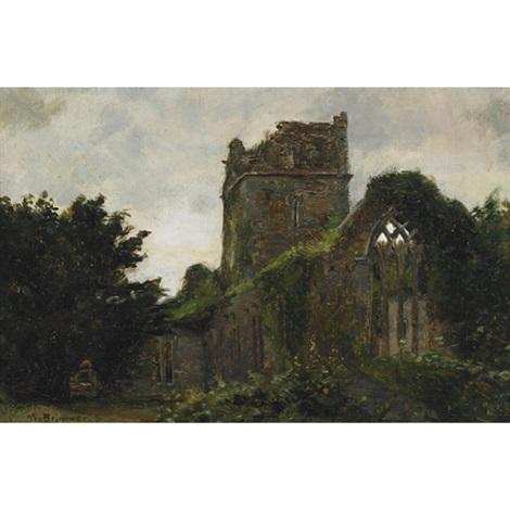 ruin of a church by william brymner