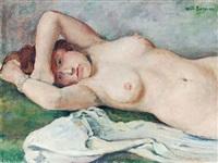 liegender weiblicher akt by willy semm