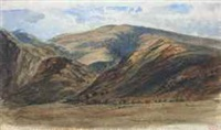 paysage de montagne by paul huet