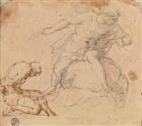 zwei männliche figurenstudien by annibale carracci