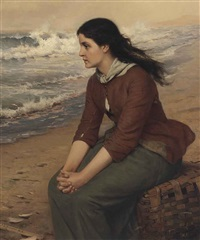 when the flowing tide comes in by john george brown