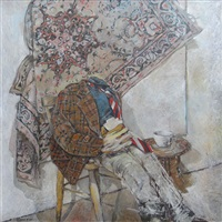 male figure with carpet by ross ritchie