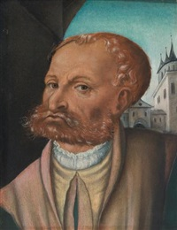 portrait of a bearded man by lucas cranach the younger