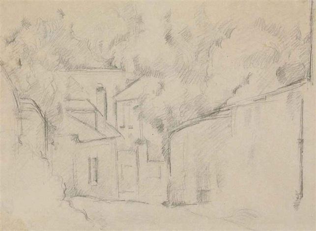 toits maisons murs de jardins by paul cézanne