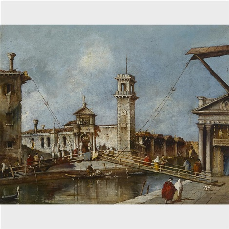 entrance to the arsenal in venice by francesco guardi