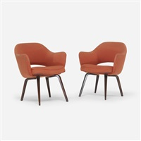 armchairs (pair) by eero saarinen
