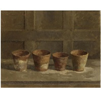four flower pots by john morley