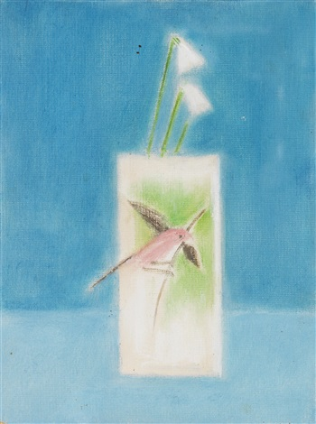 bird and vase by craigie aitchison
