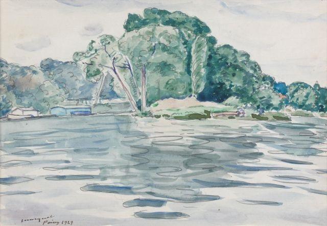 bord de rivière à poissy by albert marquet
