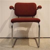 suite de 4 fauteuils, modèle cesca (set of 4) by marcel breuer