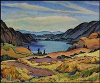 kalamalka lake (looking south), okanagan, bc by james (jock) williamson galloway macdonald