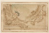 studio per bordura circolare con motivi vegetali by angelo michele colonna
