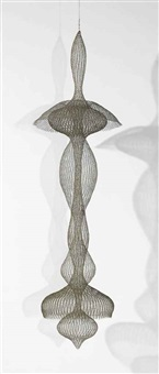 untitled (s.093, hanging seven-lobed, two part interlocking continuous form within a form) by ruth asawa