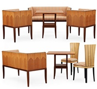 cranbrook möbelgrupp (set of 8) by eliel saarinen