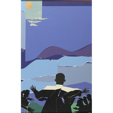 martin luther king, jr. mountain top by romare bearden