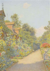 the monk's garden, ashridge by ernest arthur rowe