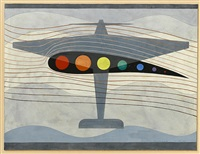 Study for Abstraction in Flight, 1941