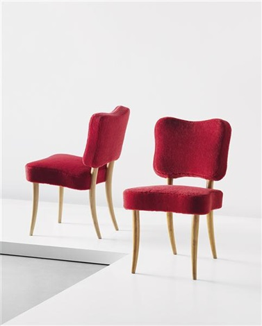 trefle chairs pair by jean royère