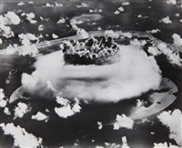 atomic bomb test, bikini atoll (2 works) by associated press