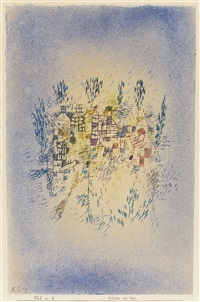 häuser am park (houses by the park) by paul klee