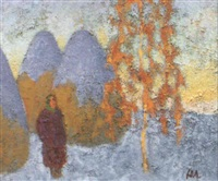 les meules sous la neige by youri lobatchev