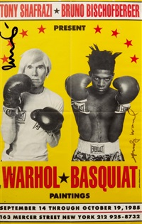 poster for warhol / basquiat painting by jean-michel basquiat and andy warhol