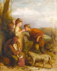 giving a bite by william mulready