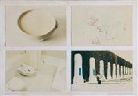 documents a a' intégrés à l'action : le blanc (in 4 parts) by gina pane