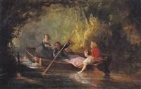 la promenade en barque by auguste-antoine fleury
