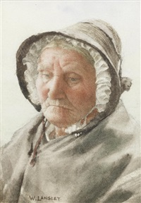 portrait of an old lady by walter langley
