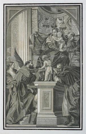 die darbringung im tempel after veronese by john baptist jackson