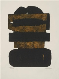 eau forte no 24 by pierre soulages