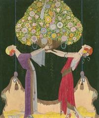 springtime. illustration for marshall field & co by joseph bolegard