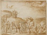 the crossing of the red sea by bernard (le petit bernard) salomon
