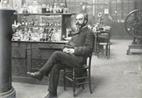 gabriel lippmann, physicien, assis dans son laboratoire, le 22 décembre by paul marsan dornac