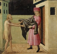 clothing the naked (+ 3 others; 4 works) by mariotto di cristofano