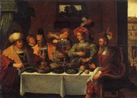 il banchetto by hieronymus francken the elder