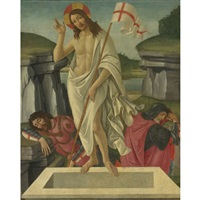 the resurrection (collab. w/studio) by sandro botticelli