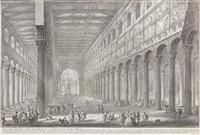 Spaccato interno della Basicilia di S. Paolo , 1749