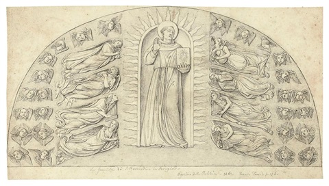 s bernardino in glory with angels after diccio 14 others 15 works by william young ottley
