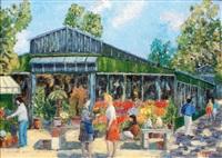le marché aux fleurs, l'ile de la cité paris by jacques camus