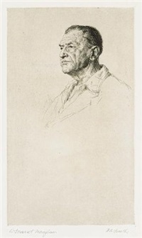 portrait of william somerset maugham by h. andrew freeth