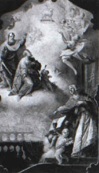 an allegory of the catholic faith with saints peter and paul by johann baptist enderle