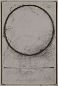 plan for sculpture of circle (copper) by toshikatsu endo